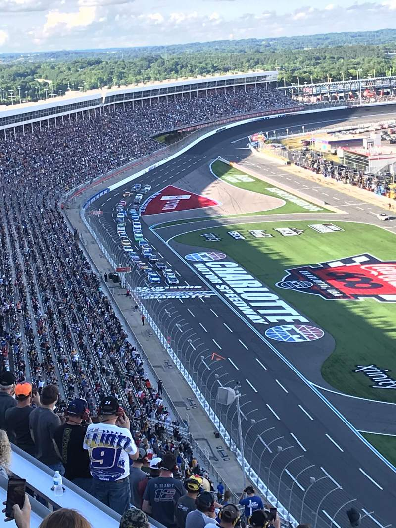 Seating view for Charlotte Motor Speedway Section FORD F Row 64 Seat 6