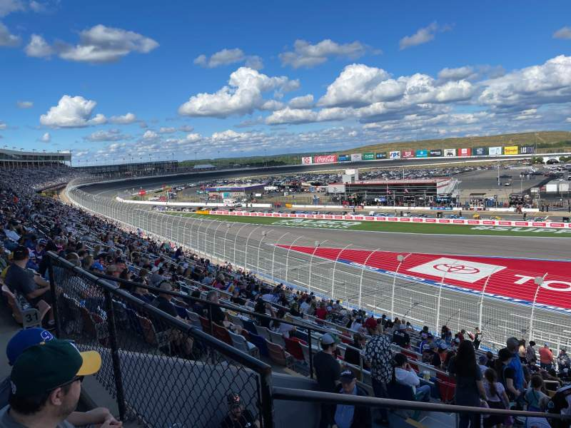 Seating view for Charlotte Motor Speedway Section Chry B Row 33 Seat 35