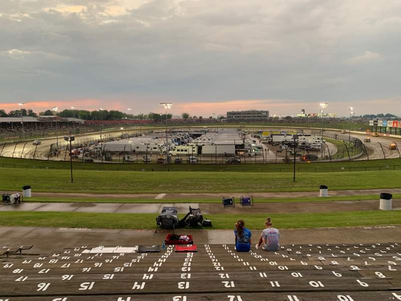 Seating view for Eldora Speedway Section SQ Row 16 Seat 13