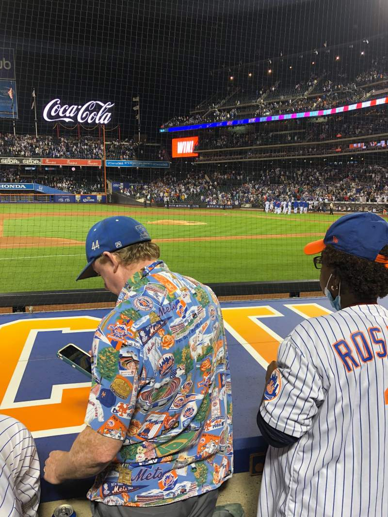 Seating view for Citi Field Section 122 Row 2 Seat 7