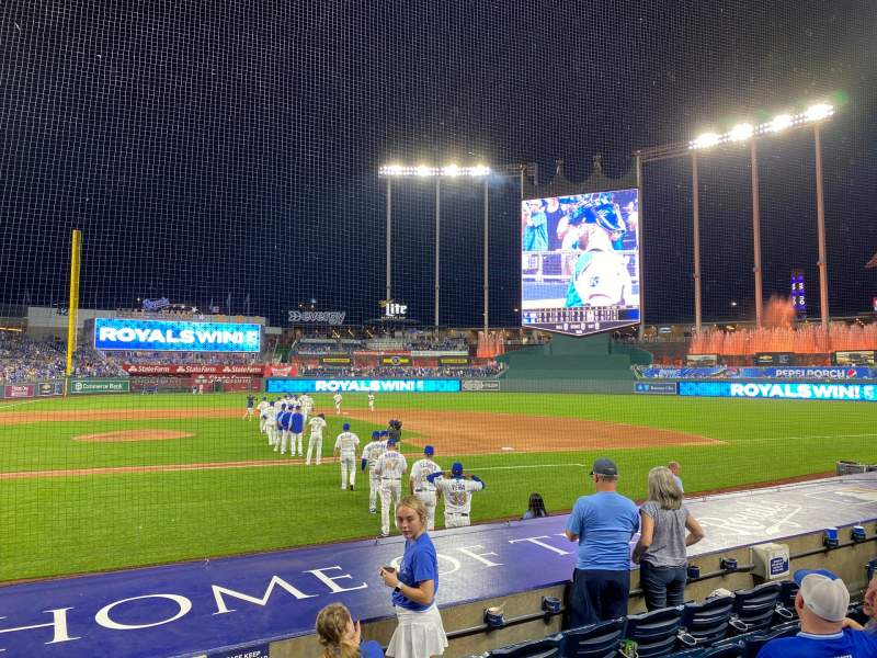 Seating view for Kauffman Stadium Section 133 Row F Seat 7