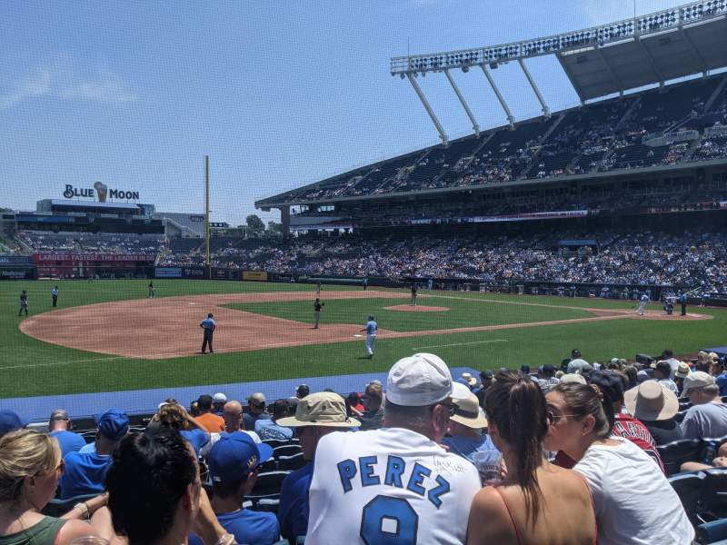 Seating view for Kauffman Stadium Section 117 Row N Seat 3