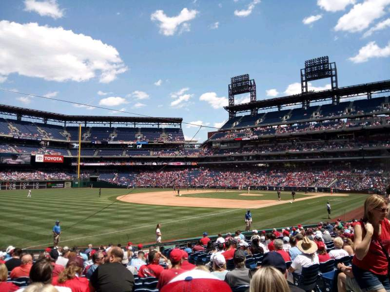 Seating view for Citizens Bank Park Section 137 Row 21 Seat 6