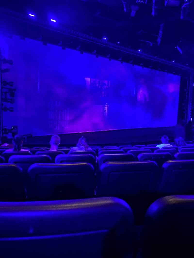 Seating view for Blue Man Group Theater Section 102 Row H Seat 6