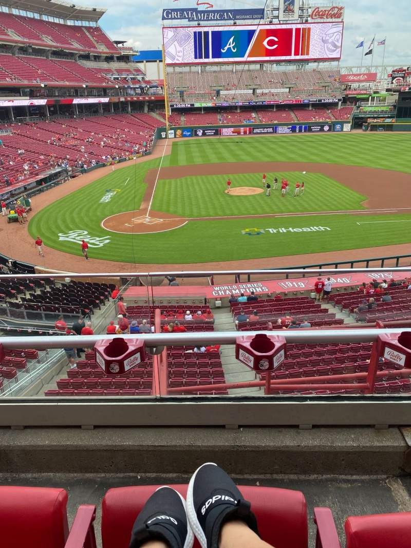 Seating view for Great American Ball Park Section 228 Row B Seat 2
