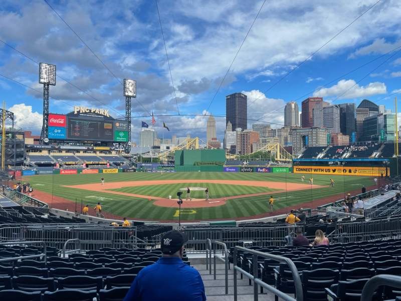 Seating view for PNC Park Section 116 Row M Seat 1