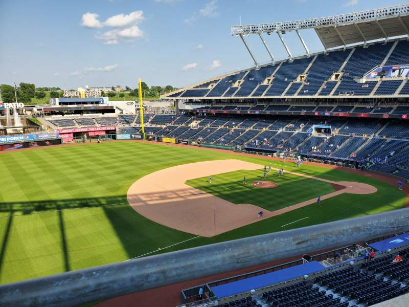 Seating view for Kauffman Stadium Section 406 Row A Seat 7