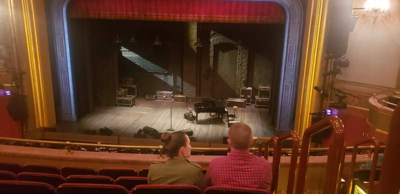 Seating view for St. James Theatre Section Mezzanine C Row F Seat 101