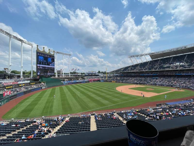 Seating view for Kauffman Stadium Section Craft and Draft Row A Seat 24
