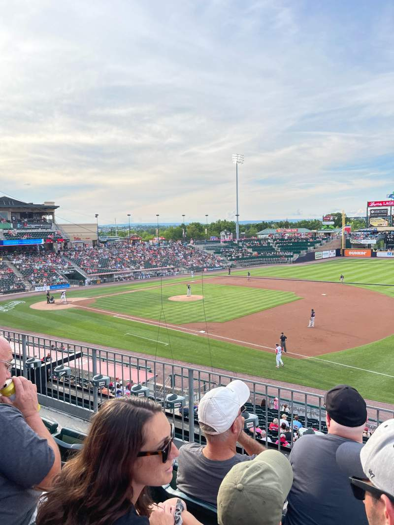 Seating view for Coca-Cola Park Section 201 Row C Seat 22