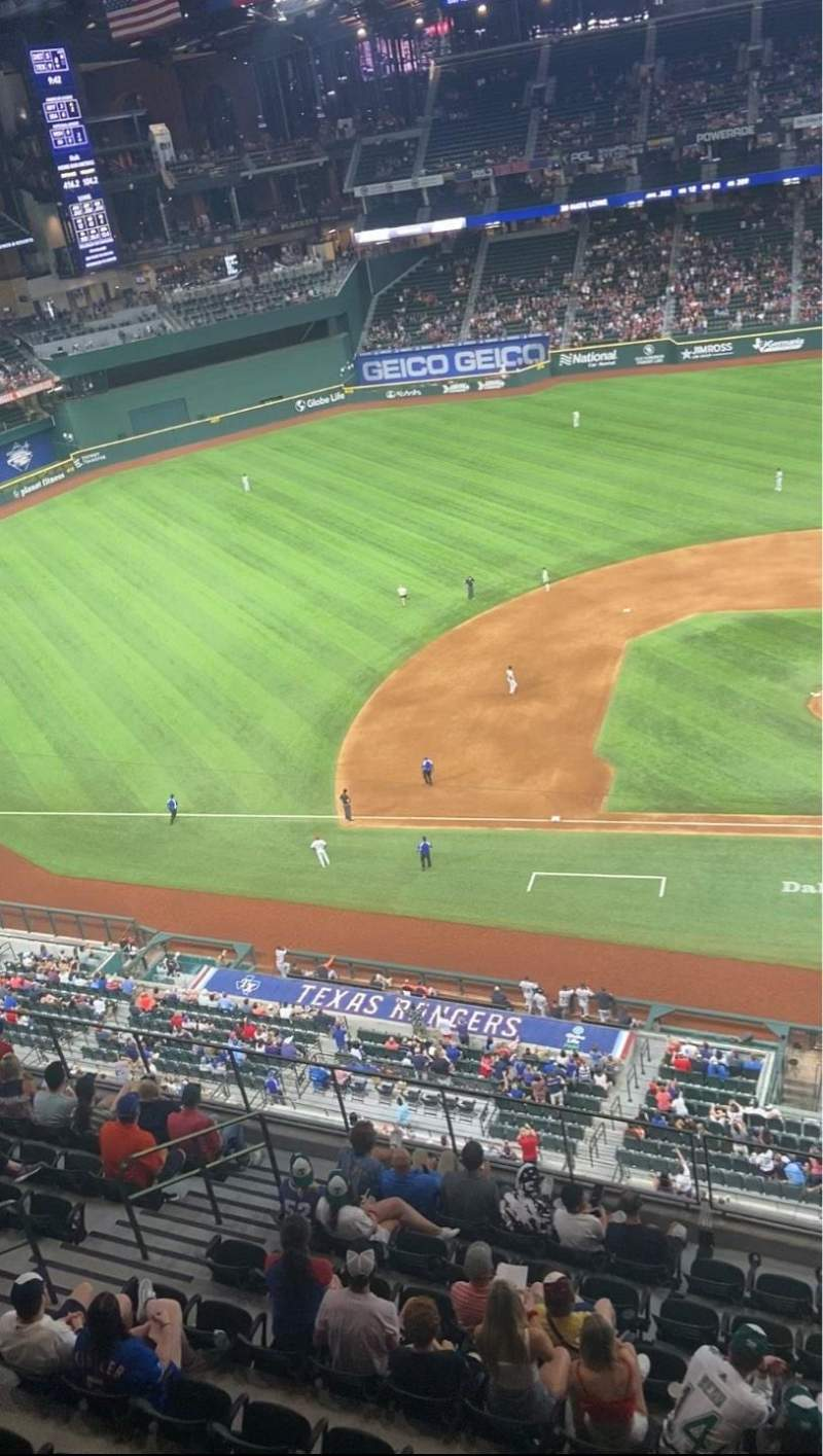 Seating view for Globe Life Field Section 308 Row 1 Seat 12