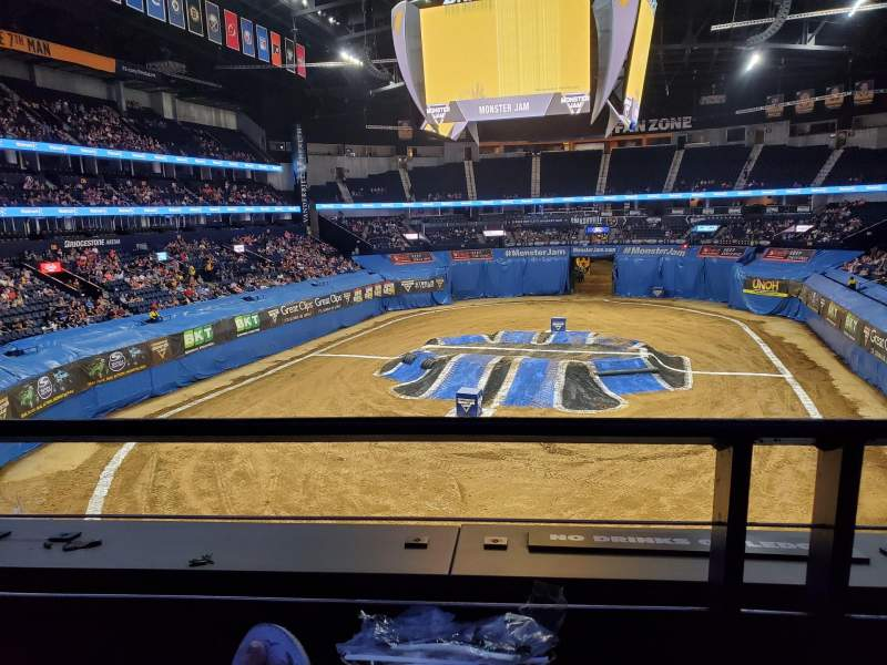 Seating view for Bridgestone Arena Section 202 Row A Seat 9