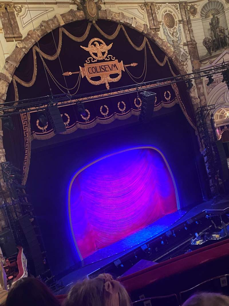 Seating view for London Coliseum Section Upper circle Row D Seat 53