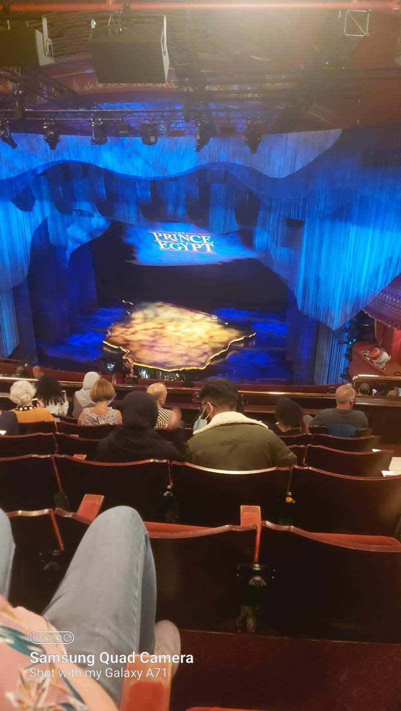 Seating view for Dominion Theatre Section Circle Row O Seat 8