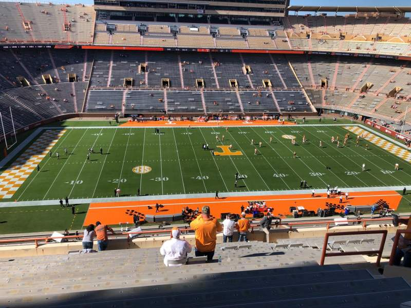Seating view for Neyland Stadium Section EE Row 20 Seat 10