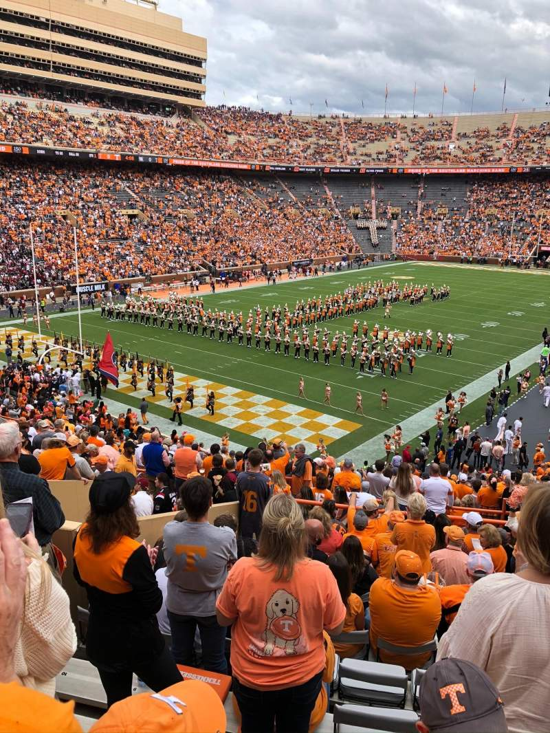 Seating view for Neyland Stadium Section X5 Row 29 Seat 5