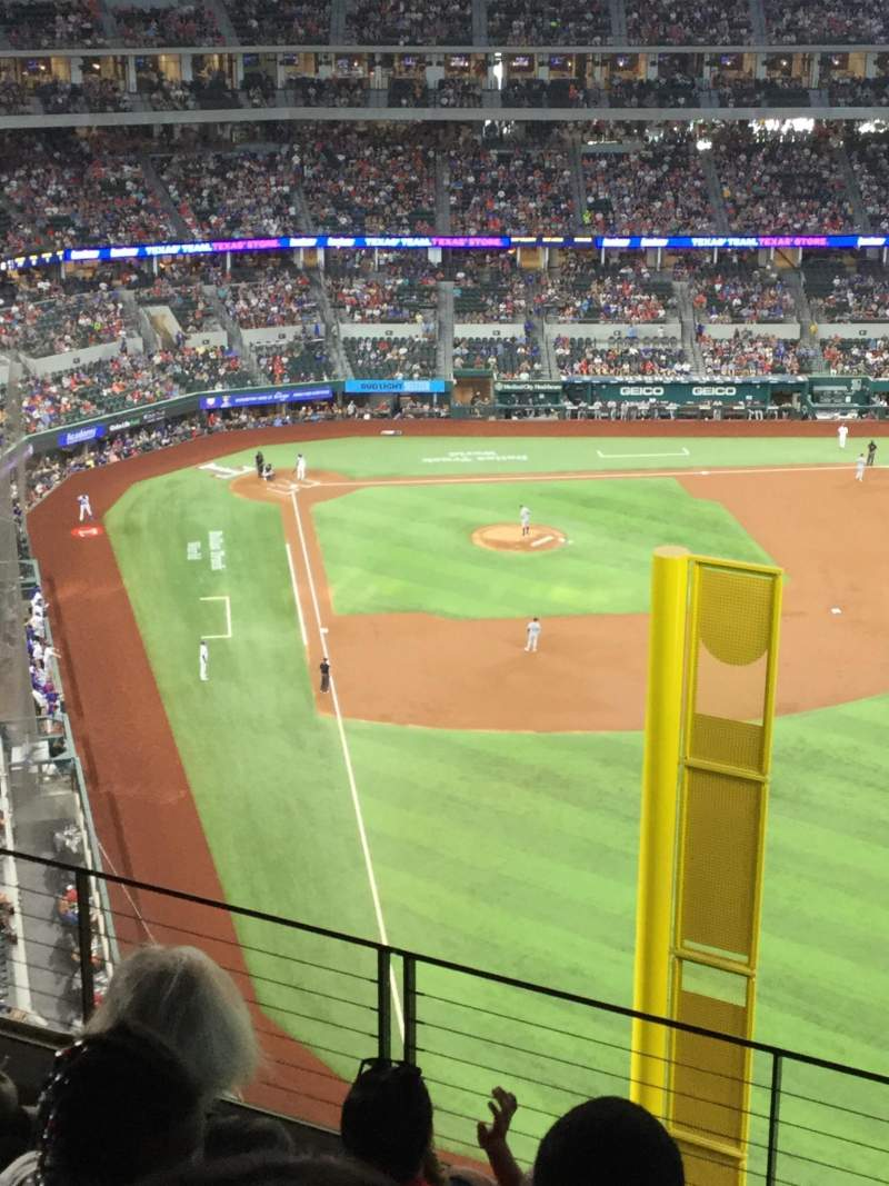 Seating view for Globe Life field Section 325 Row 6 Seat 22