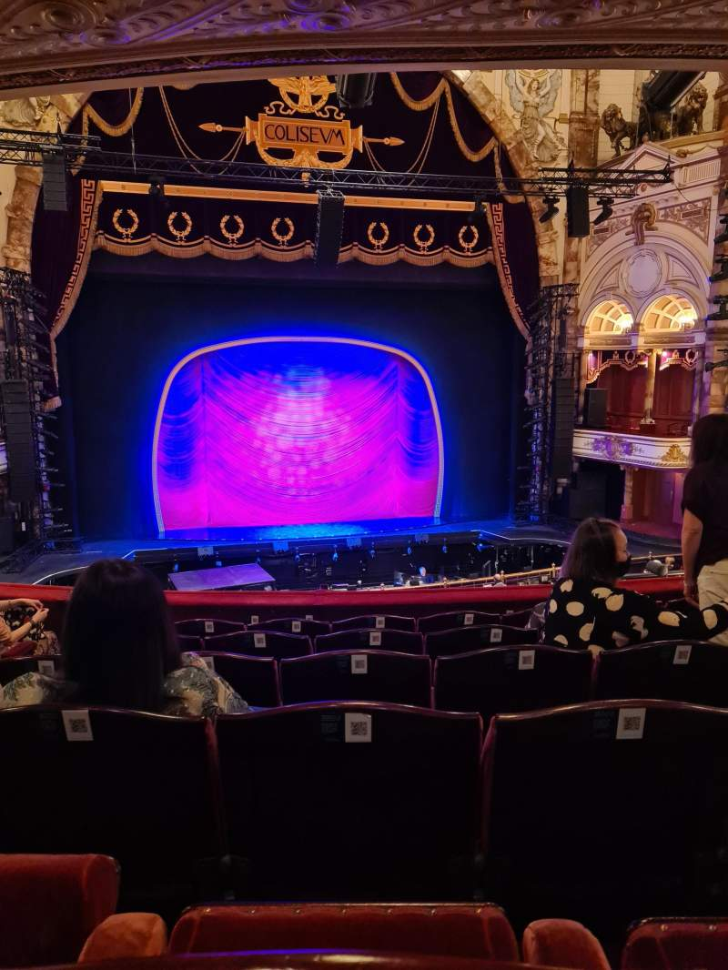 Seating view for London Coliseum Section Dress circle Row F Seat 38