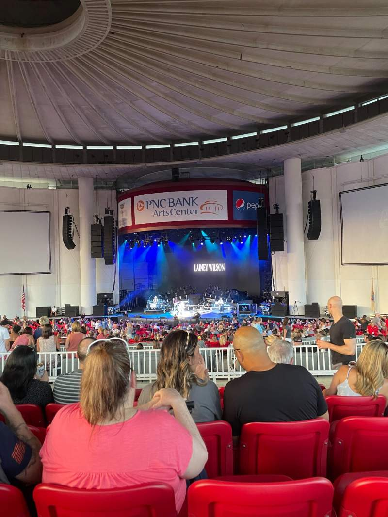 Seating view for PNC Bank Arts Center Section 302 Row F Seat 142