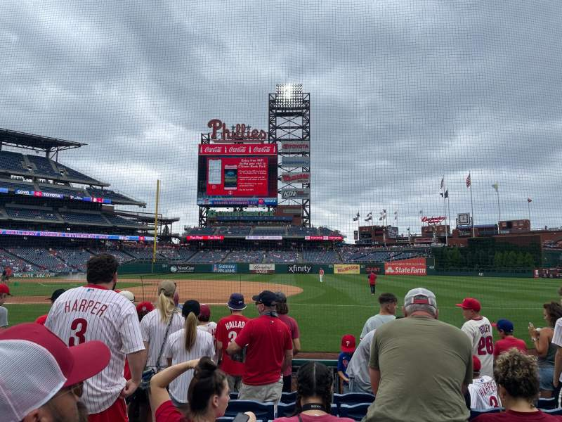 Seating view for Citizens Bank Park Section 114 Row 7 Seat 10