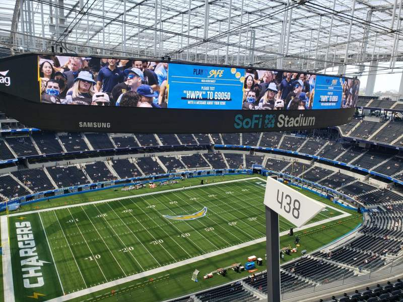 Seating view for SoFi Stadium Section 535 Row 1 Seat 1