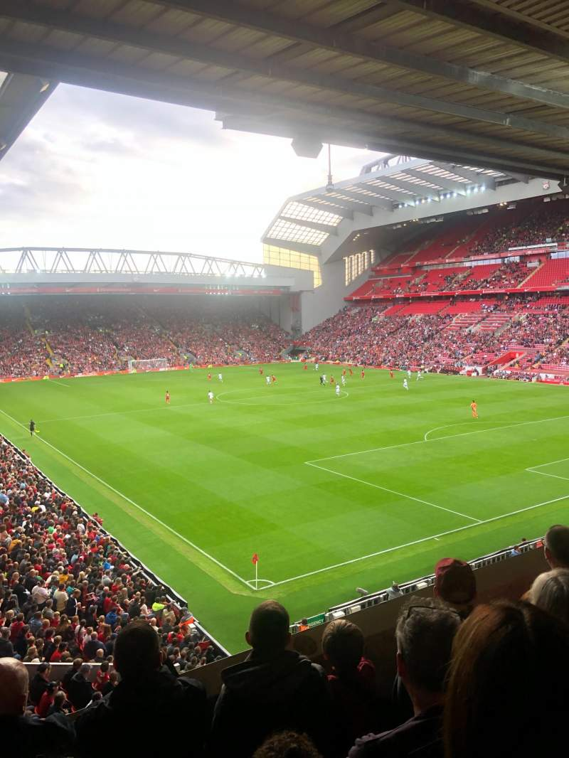 Seating view for Anfield Section 228 Row 4 Seat 204