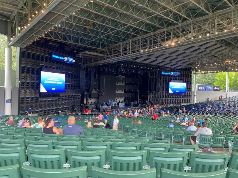 Seating view for DTE Energy Music Theater Section LT9 Row RR Seat 37