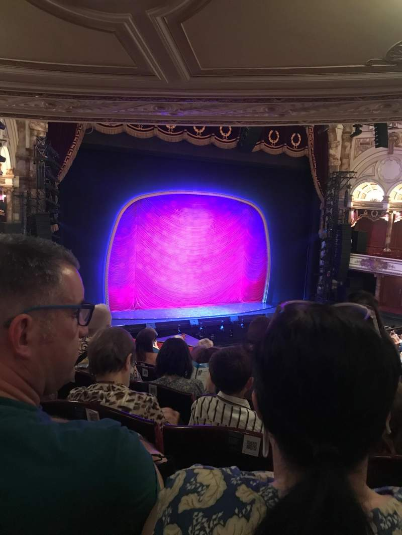 Seating view for London Coliseum Section Dress circle Row G Seat 52