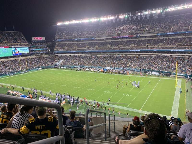 Seating view for Lincoln Financial Field Section C5 Row 15 Seat 1