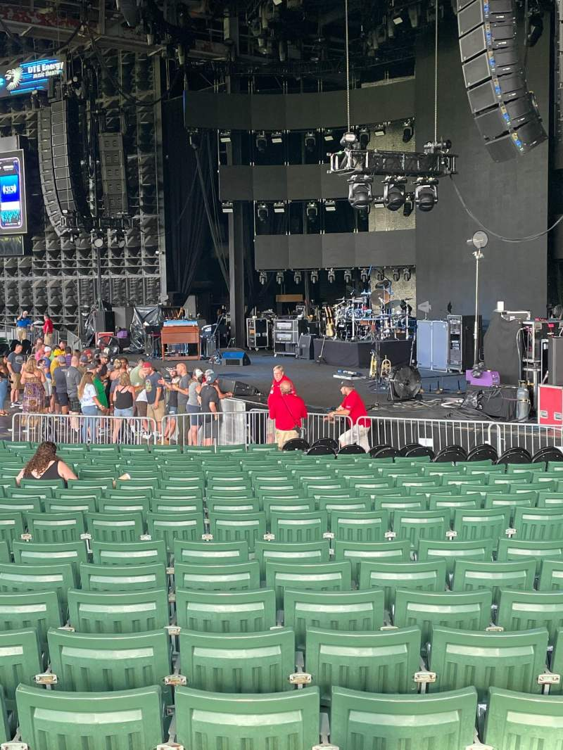Seating view for DTE Energy Music Theater Section RT4 Row U Seat 13
