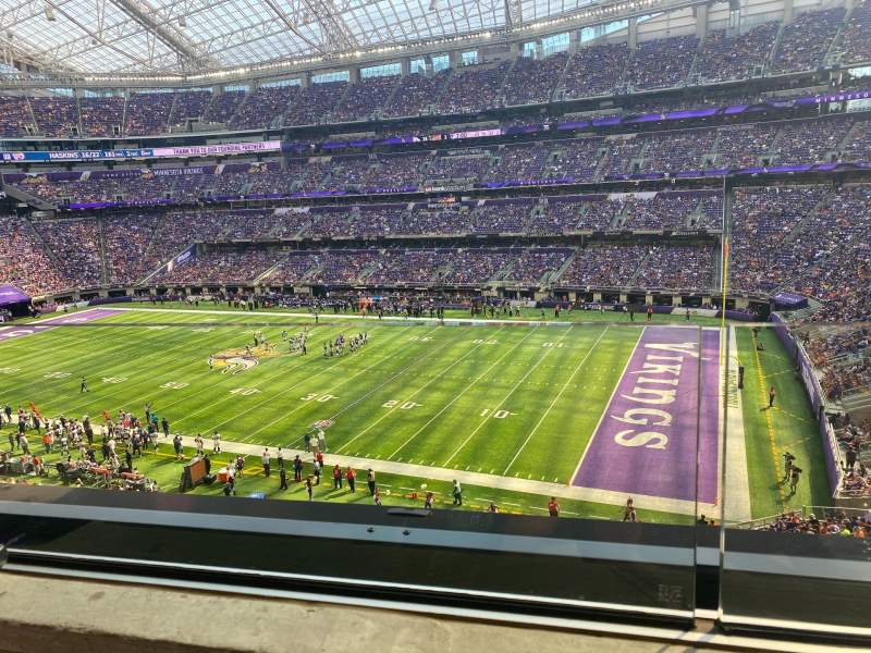 Seating view for U.S. Bank Stadium Section 206 Row 1 Seat 12