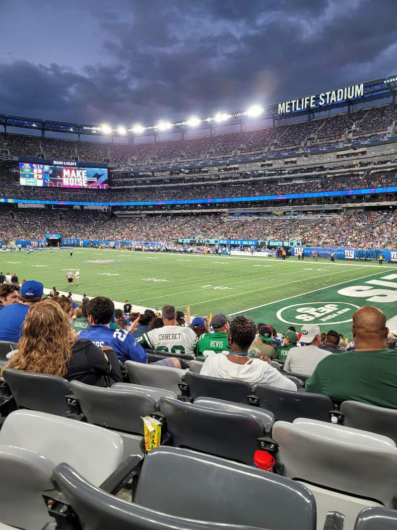 Seating view for MetLife Stadium Section 133 Row 18 Seat 3