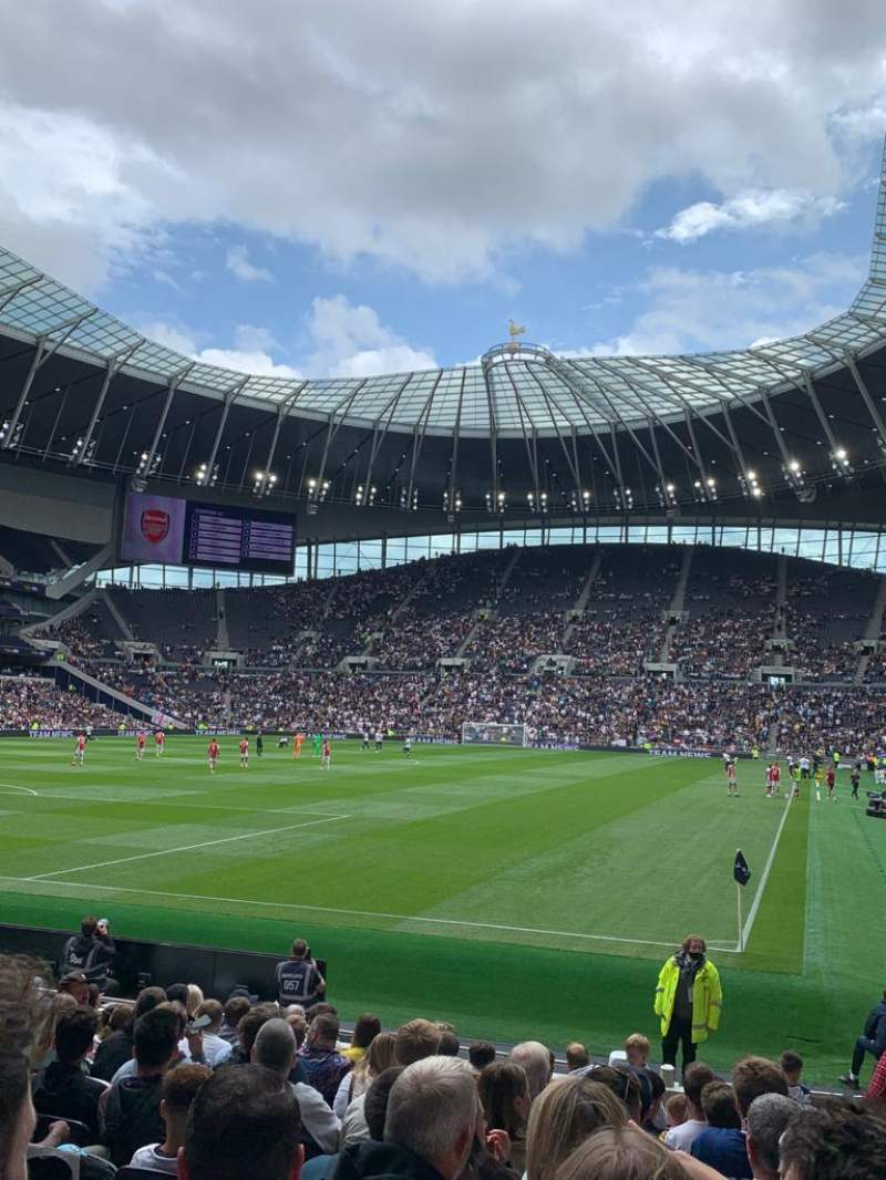 Seating view for Tottenham Hotspur Stadium Section 110 Row 14 Seat 299