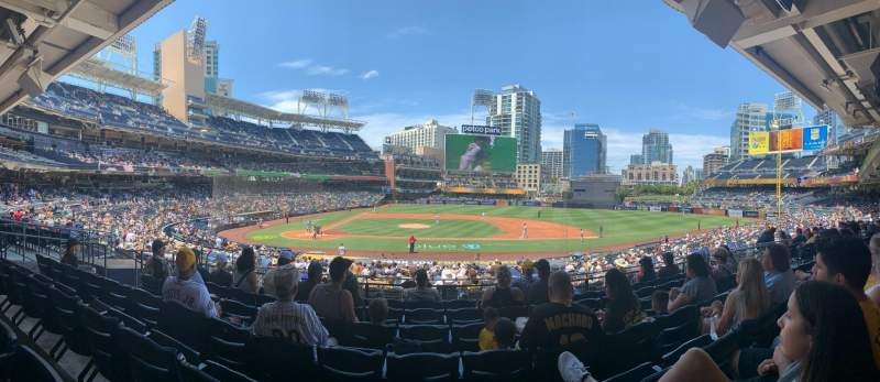 Seating view for PETCO Park Section 107 Row 32 Seat 13