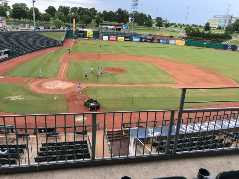 Seating view for Arvest Ballpark Section Suite 9