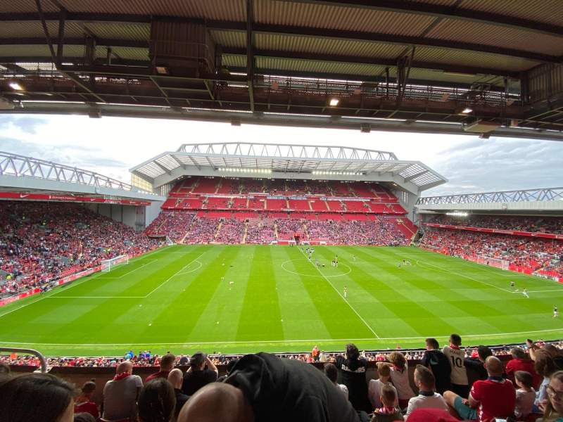 Seating view for Anfield Section CE6 Row 6 Seat 159