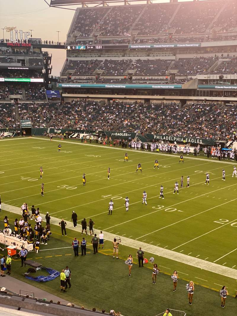Seating view for Lincoln Financial Field Section C26 Row 2 Seat 19