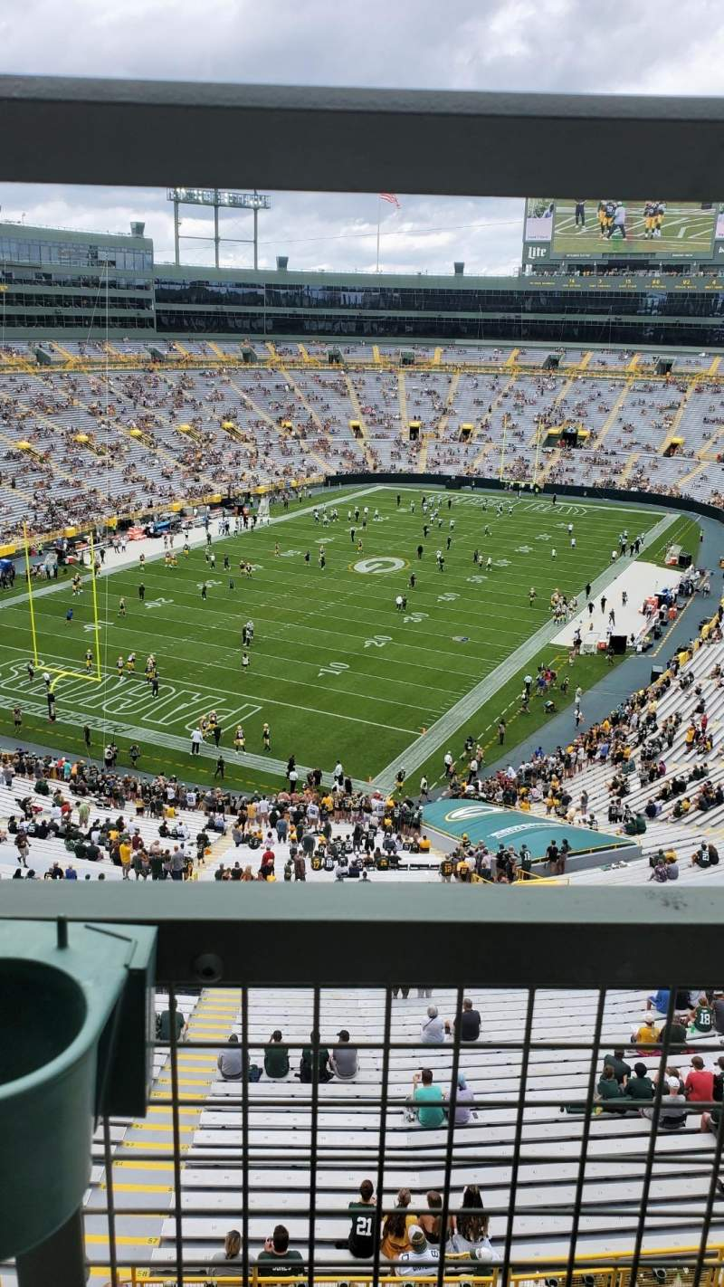Seating view for Lambeau Field Section 641s Row 1 Seat 10