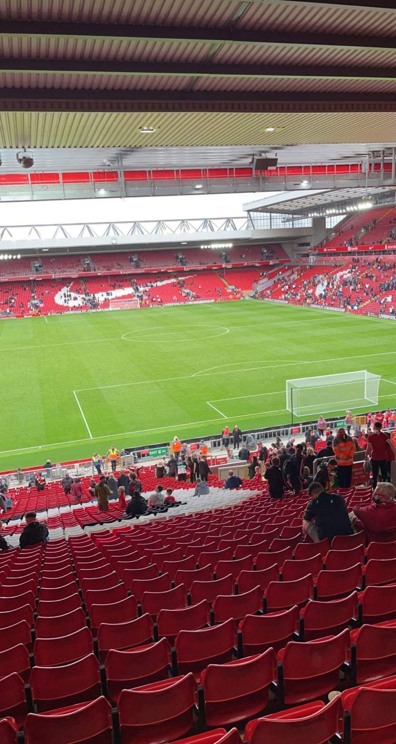 Seating view for Anfield Section 203 Row 52 Seat 166