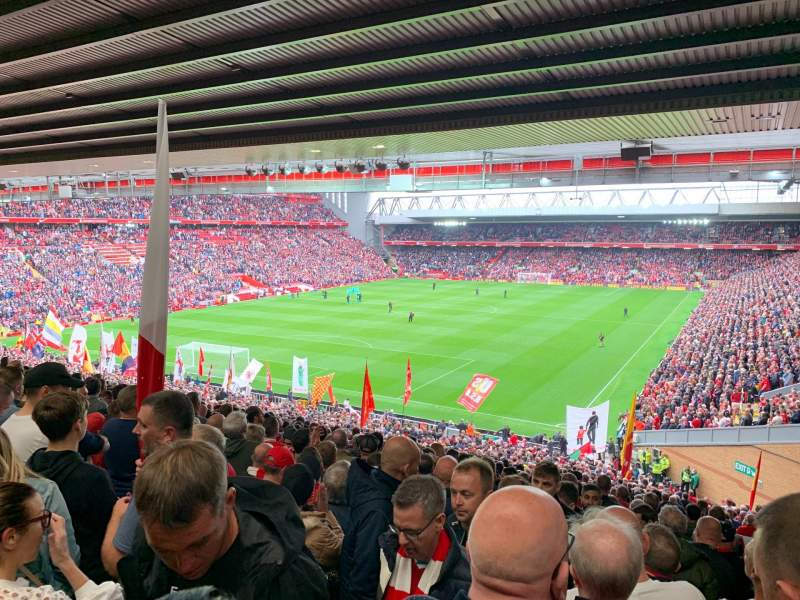 Seating view for Anfield Section 208 Row 54 Seat 15