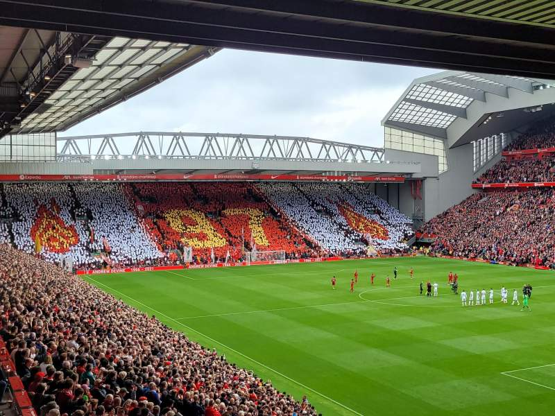 Seating view for Anfield Section 228 Row 6 Seat 224