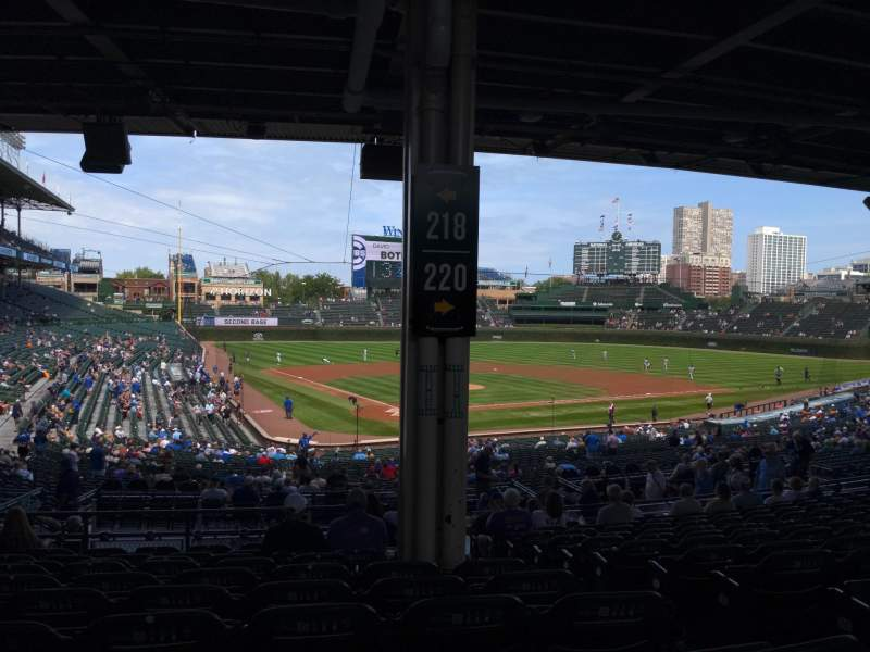 Seating view for Wrigley Field Section 218 Row 13 Seat 23