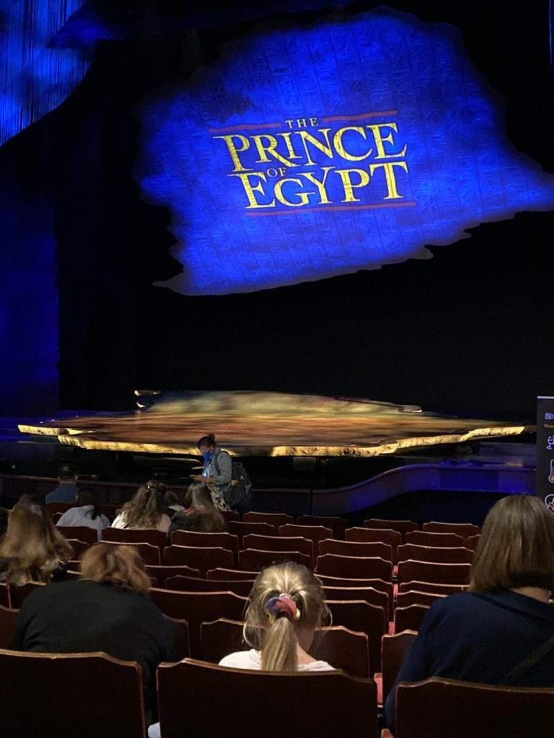 Seating view for Dominion Theatre Section Stalls Row M Seat 13-16