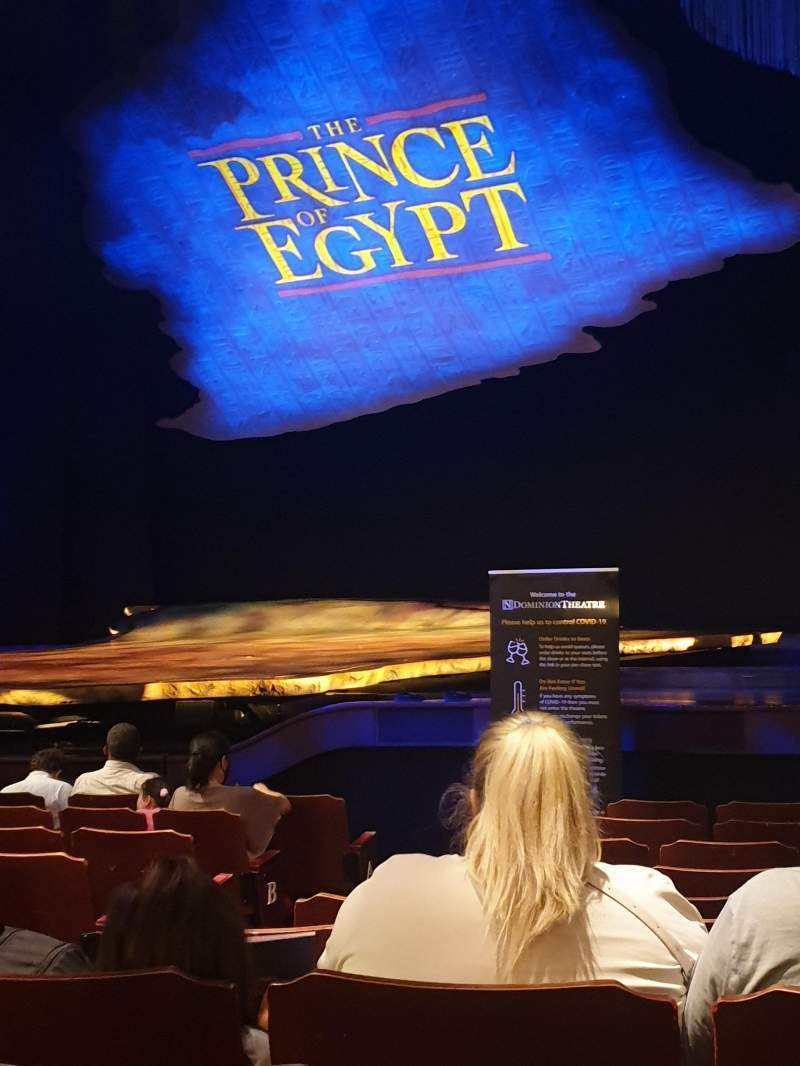 Seating view for Dominion Theatre Section Stalls Row L Seat 10