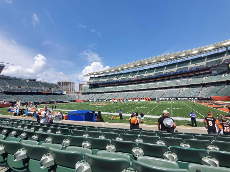 Seating view for Paul Brown Stadium Section 106 Row 7 Seat 7