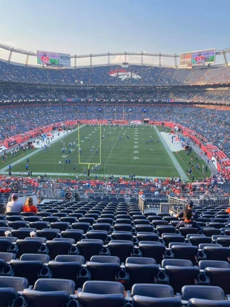 Seating view for Empower Field at Mile High Stadium Section 231 Row 20 Seat 20