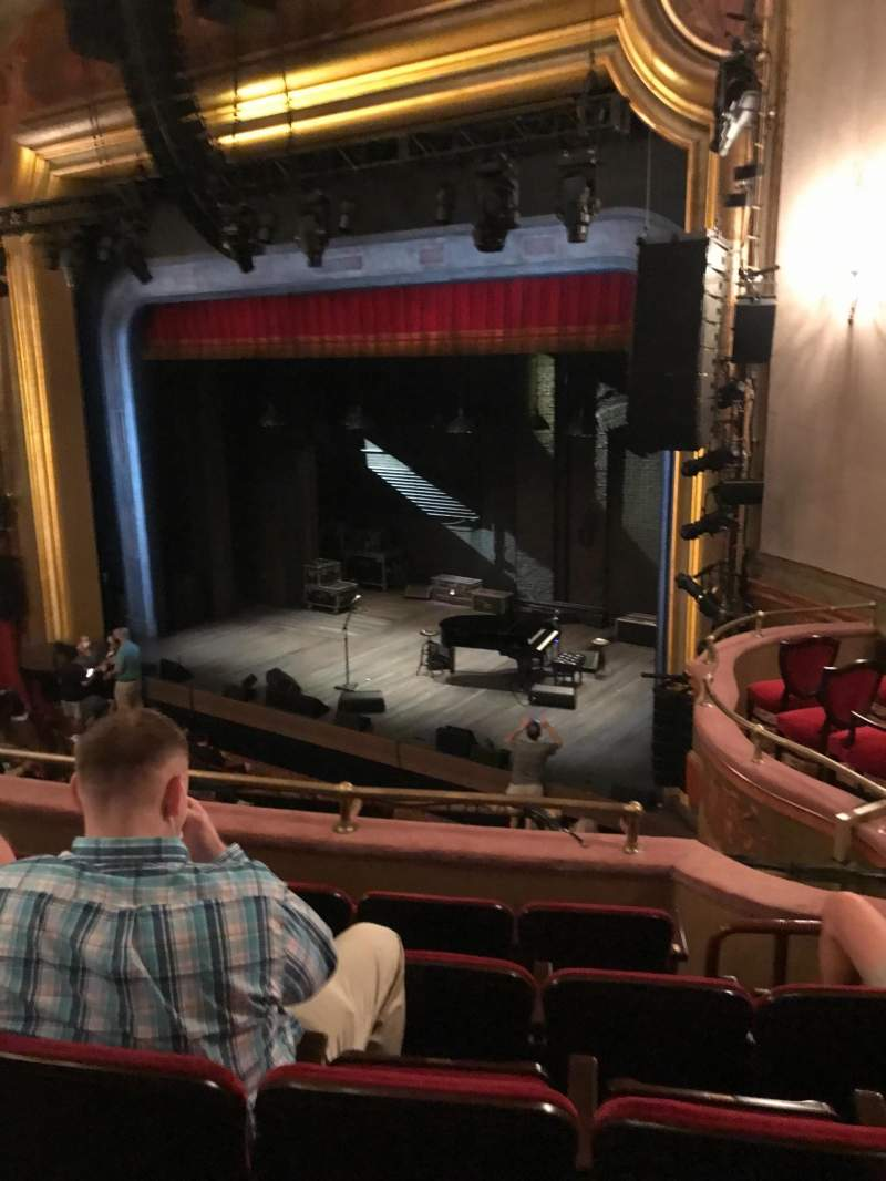 Seating view for St. James Theatre Section Mezzanine R Row E Seat 26