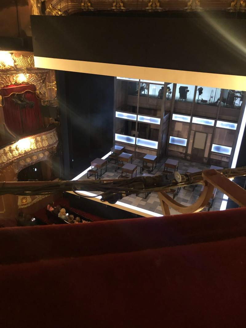 Seating view for Apollo Theatre Section Grand Circle Row A Seat 6