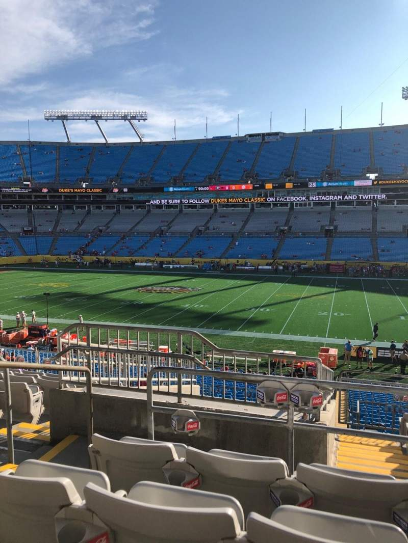 Seating view for Bank of America Stadium Section 313 Row 10 Seat 18