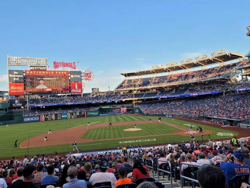Seating view for Nationals Park Section 116 Row PP Seat 2